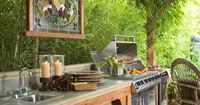 No space for a kitchen in the house? Make one outdoors!
