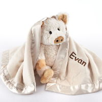 """Once again Baby Aspen has cornered the market on """"cute and cuddly"""" with an extraordinary two-piece gift set starring that market-going piggy of nursery-rhyme fame! This little piggy is more than happy to make a stop at your favorite newborn&rsqu..."""