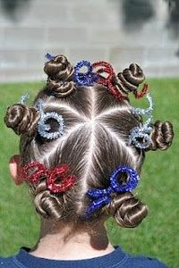 A collection of 4th of July Hairstyles