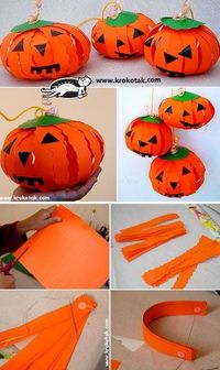 Pumpkin LANTERNS- cute for decorations maybe?