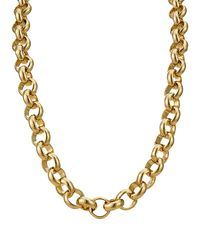 18K Gold Layered Solid Belcher Chain Necklace £19.95
