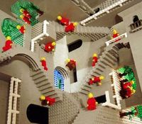 Escher remade using ... LEGO!