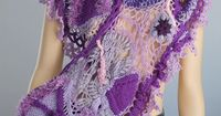 "Lucy Levintovich 'Freeform Crochet Scarf""!"