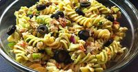 This is very good and a nice change from the typical pasta salad. Try it with the French-Greek Dressing. A must try for summer: http://allrecipes.com/recipe/tuna-souvlaki-pasta-salad/detail.aspx