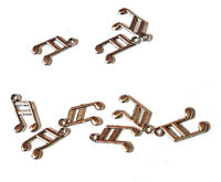 Pack of 20 Mini Silver Coloured Musical Note Charms. Eighth Notes Music Pendants. 13mm x 8mm £3.29