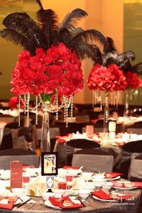 Masquerade Party Centerpieces | Centerpiece idea for masquerade ball | Party