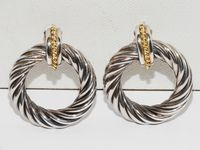 Idalia Baudo Sterling Silver hand-crafted in Italy I.B. Signed Vintage French Clip Hoop Earrings. $392.75