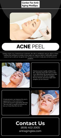 Centre For Anti-Aging Med Spa provides the best skin-care treatment under the guidance of Centre For Anti-Aging Med Spa, who is a renowned dermatologist and the best doctor for acne in Lexington. There is a wide range of acne treatment available at the Ce...