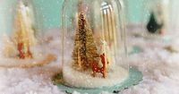 """Check out this tutorial on how to make these sweet vintage inspired bell jar ornaments! These fun little """"bell jars"""" are really easy and economical to make."""