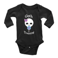 Goth In Training Baby Onesie Black $19.95