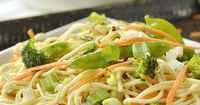 Spicy Sesame Salad is the perfect summer salad. Add chicken for a full meal.