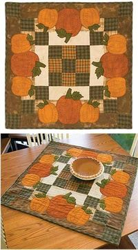 PUMPKIN PIE TABLE TOPPER KIT with fabric and pattern!!