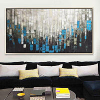 Abstract painting acrylic paintings on canvas art blue Painting Wall Art Pictures Home Decor framed wall art $79.00