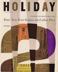Holiday magazine cover -- I'd love to apply this concept to a scrapbook layout!