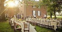 Whimsical and Romantic Outdoor Wedding Reception