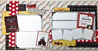 Disney inspired scrapbook layout kit featuring