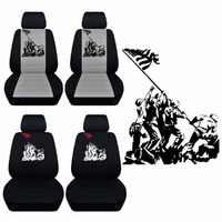 True Patriots Seat Covers Fits 2015 to 2018 Chevrolet Silverado Front Bucket Seat Covers Airbag Friendly $79.99