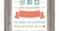 Free wedding hashtag sign printable from