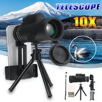 Monocular Telescope 10X HD Outdoor Optical Lens Telescope Night Vision Tripod Phone Clip