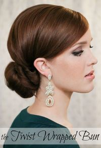 The Freckled Fox - a Hairstyle Blog: Holiday Hair Week: The Twist Wrapped Bun
