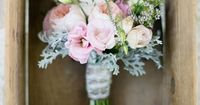 LOVE these flowers.. the whole post is really cute. Pink & gray wedding