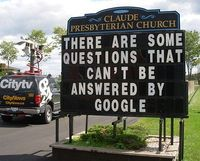 If life gives you question, google has the answer...