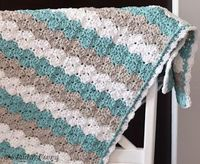 Crochet Shell Stitch Baby Blanket Pattern by The Stitchin' Mommy