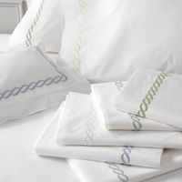 Classic Chain Embroidered Sheet Sets $365.00