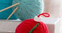 Hook & Needle Ornaments Free DIY Craft Pattern in Red Heart Yarns