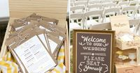 For the ceremony - programs and seat yourself sign