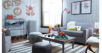 Hey, that's my house! Thanks LAND OF NOD for working your design magic! Muenstermann-Isperduli Family | The Land of Nod