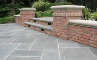 Low Retaining Wall, Steps, Brick Cipriano Landscape Design Mahwah, NJ