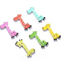 50 x Assorted Mix of Colours Wooden Giraffe Buttons. 4cm x 2cm. Cute Animal for Crafts, Sewing, Dressmaking, Upholstery and Needle Craft £4.29