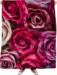 Roses Fleece Blanket $65.00