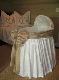 so darling....skirted bassinet, classic baby