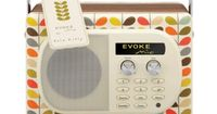 Evoke Orla Kiely Radio, How cute is this? I love Evoke's retro aesthetics. But I admittedly would probably go with blue or white were I actually to shell out the cash for one.