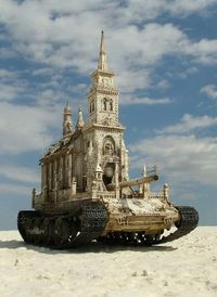 churches, tanks and sculptures.