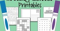These printables for your Pre-K Writing Center will help teach children the purposes for writing. Printable greeting cards, post cards, dot-to-dot... more.