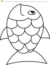 Free Rainbow Fish Template - PDF | 2 Page(s) | Page 2