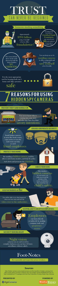 Benefits of Using a Spy Camera [InfoGraphic]