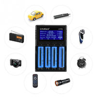 Travel LCD Smart Battery Charger For 21700 20700 26650 18650 RCR123a AA AAA Car