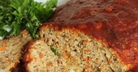 The Best Double Glazed Turkey Meatloaf ever. Easy to make and loaded with healthy ingredients, this will be a dinner time favorite with the whole family.