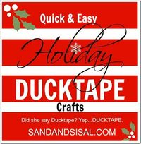 Duck tape Christmas crafts