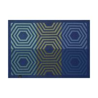 Kaléidoscope Vibration Blue Reversible Placemats $92.00