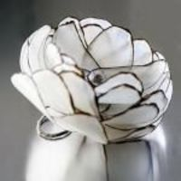flower rings, paper flowers and papers.