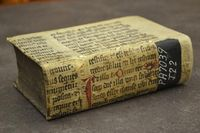 �€œPrinted in Leipzig in 1615, this book is bound in rubricated vellum manuscript waste. Burns Library, Boston College�€