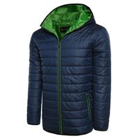 ZEAGOO Men Fashion Hooded Long Sleeve Zip-up Solid Quilted Jacket Coat Outerwear $88.00