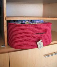 crochet baskets, tapestries and baskets.