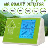 6 in 1 Air Quality Detector PM2.5 PM10 TVOC HCHO Formaldehyde Humidity Temperature