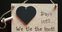 Engagement gift. Wedding Chalkboard by CountdownChalkboards